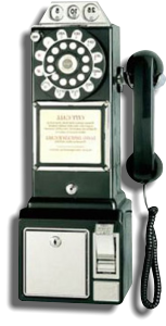 This is a picture of an old style telephone